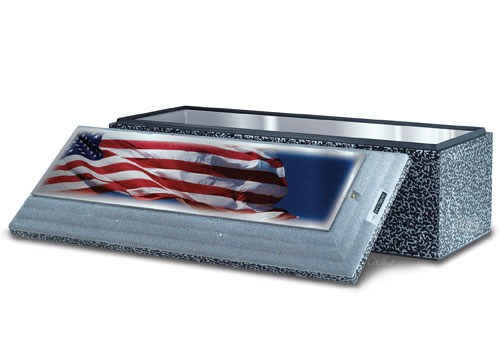 American Flag on Stainless Steel Triune®