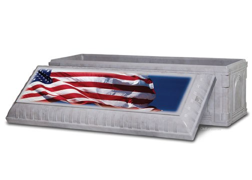 American Flag on Gray Wilbert Triune®