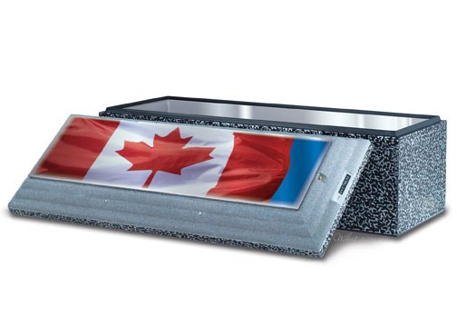 Canadian Flag on Stainless Steel Triune®